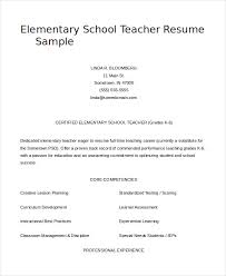 Resume Samples For Teacher by Teacher Resume 9 Free Sample Example Format Free U0026 Premium