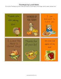 happy thanksgiving lunch notes thanksgiving activities for