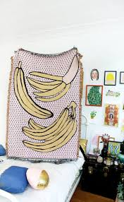 los angeles home decor stores bananas throw blanket bananas blanket and cotton throws