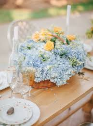 hydrangea wedding centerpieces powder blue hydrangea wedding centerpiece fab mood wedding