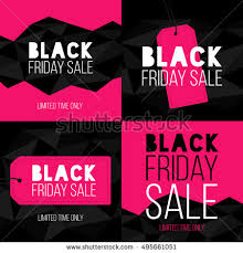 black friday pink set black friday sale banners vector stock vector 330207716