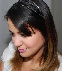 headband comprar headband em strass preto finessè elo7