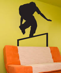 Skateboarding Wall Stickers Vinyl Wall Decal Sticker Rollerblade Grinding 1549