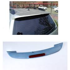 subaru roof spoiler rear roof spoiler led light wing unpainted abs lip fit for subaru