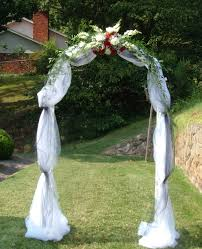 wedding arches toronto wedding arch covered with tulle and accented with flowers