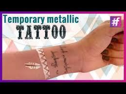 metallic temporary tattoo diy with swati youtube