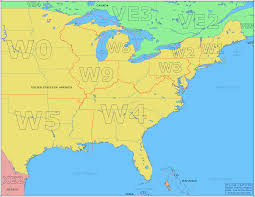 Map Of East Coast Florida by Amateur Radio Prefix Map Of The Eastern Usa