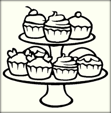 cupcake coloring page printable coloring pages ideas