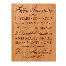 10th year anniversary gift 10 year wedding anniversary gifts for wedding 10 year wedding