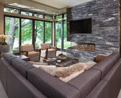 Lake Calhoun Organic Modern Modern Family Room Minneapolis - Modern family room