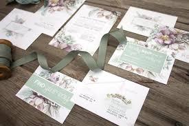 wedding invitations hamilton mauve and mint floral watercolour wedding invitations and