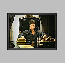 Scarface Home Decor Scarface Tony Montana Poster Digital Artwork Picture Print A4