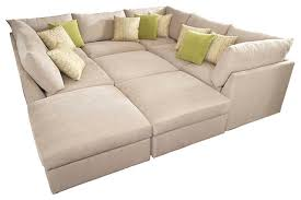 Sectional Sofa Beckham Pit Sectional Contemporary Sectional Sofas With Regard To