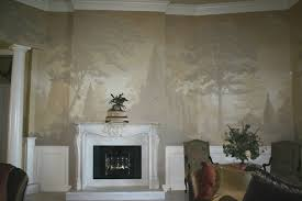 monotone murals the mural works the mural above was specifically designed so that the client could hang mirrors and paintings on the walls the mural acts merely as a backdrop to the other