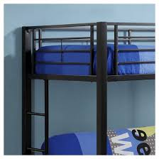Premium Metal Twin Over Futon Bunk Bed Black Saracina Home - Twin futon bunk bed