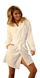 robe de chambre femme coton robe de chambre chaude a capuche pour femme peignoir court en coton