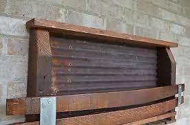 barn wood wine stave rustic wine rack tin backing 135 00