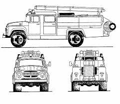 zil 130 fire truck blueprint download free blueprint for 3d modeling