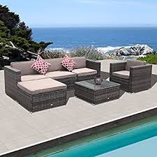 Gp Products Patio Furniture Amazon Com Reddington Outdoor Patio Furniture 6 Piece Sectional