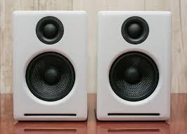 minimalist speakers audioengine a2 multimedia speakers review excellent pc speakers get