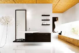 modern bathroom tile design black and white strip wall decoration