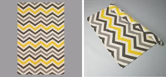 Black And White Zig Zag Rug Black White Yellow Dwell Studio Zig Zag Rug