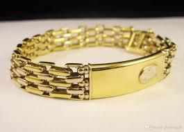 yellow white gold bracelet images 2018 sauro 18k yellow white gold bar link tag wide men 39 s bracelet jpg