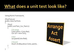 unit tests and automated testing
