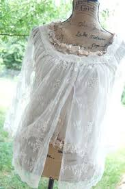 Shabby Chic Tops by Sale Romantic Cream Ivory Pearl Sheer Long Sleeves Lace Top Blouse