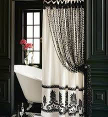 curtain ideas for bathrooms black and white shower curtain set gorgeous home 15pc black