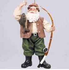 fishing santa ornament sports