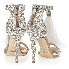 Wedding Shoes Hk White Suede And Fix Crystal Embellished Sandals With An