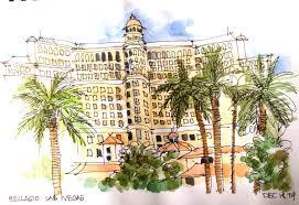 Bellagio Hotel Floor Plan by Quick Notebook Sketch In Vegas
