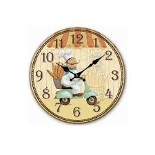 new european rural country style kitchen wall clock home decor