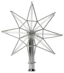 silver glass tree topper n1 contemporary
