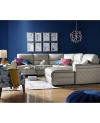 Recliner And Chaise Sofa by Jessi 3 Pc Leather Sectional Sofa With Chaise And 1 Power Recliner
