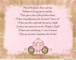 fairytale sweet sixteen invitations enchanted cinderella