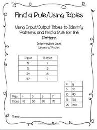input and output tables mathwire com problem solving gr 5 8 already created math