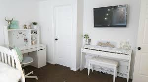 Cute White Desk Cute Teen Bedroom Reveal Makeover Wannabe Balanced Mom