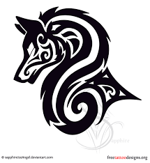 tribal wolf tribal wolf wolf and