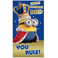 minion movie dad birthday card danilo