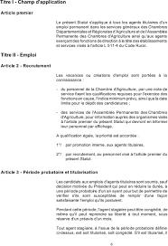chambres d agriculture recrutement statut du personnel administratif des chambres d agriculture pdf