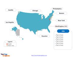 usa map key cities printable us map major cities outline map of usa physical with usa