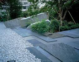 garden paving u2013 contemporary japanese style garden with blue slate