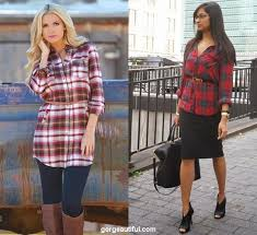 ways to wear flannel and plaid shirt for all season gorgeautiful com
