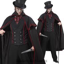 Halloween Costumes Victorian C793 Jack Ripper Men Victorian Vampire Count Dracula