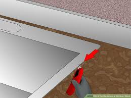 How To Remove A Kitchen Sink Faucet How To Remove A Kitchen Sink 14 Steps With Pictures Wikihow