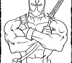 deadpool coloring pages printable deadpool coloring pages for