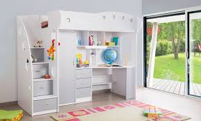 lit surélevé avec bureau lit mezzanine combiné junior groupon shopping