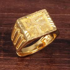 gold ring for men aliexpress buy trendy yellow gold ring men wire drawing